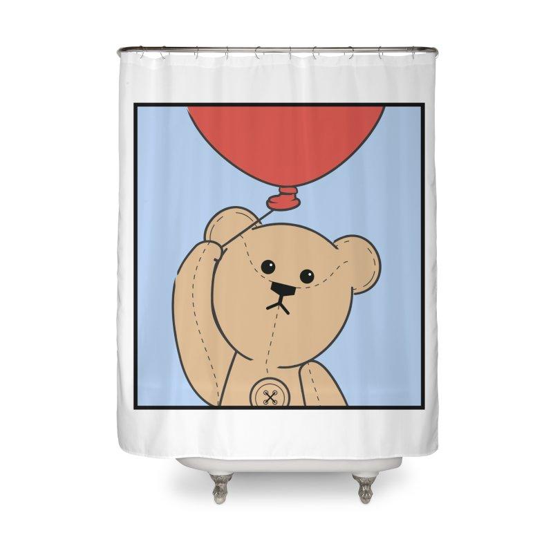 Red Balloon Home Shower Curtain by grumpyteds's Artist Shop