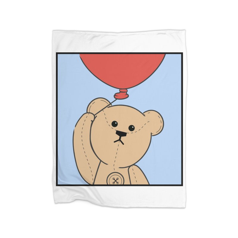 Red Balloon Home Blanket by grumpyteds's Artist Shop