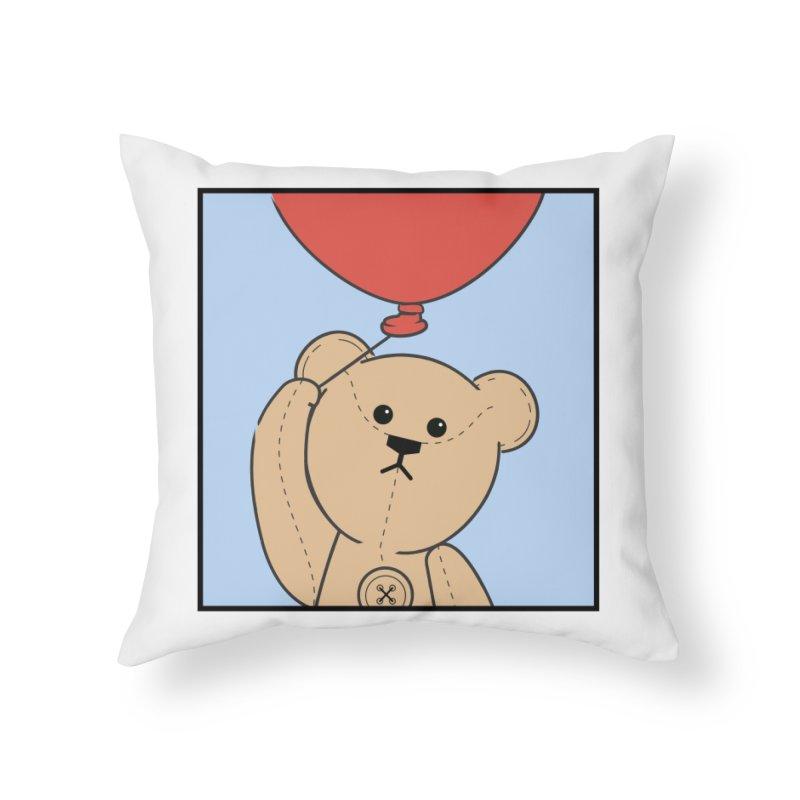 Red Balloon Home Throw Pillow by grumpyteds's Artist Shop
