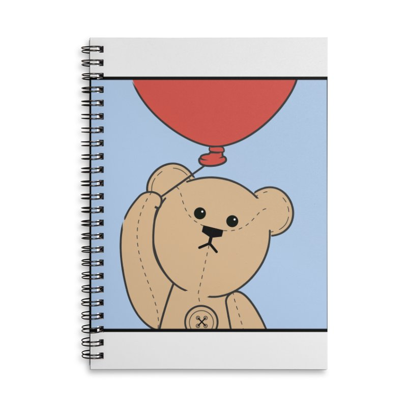 Red Balloon Accessories Lined Spiral Notebook by grumpyteds's Artist Shop