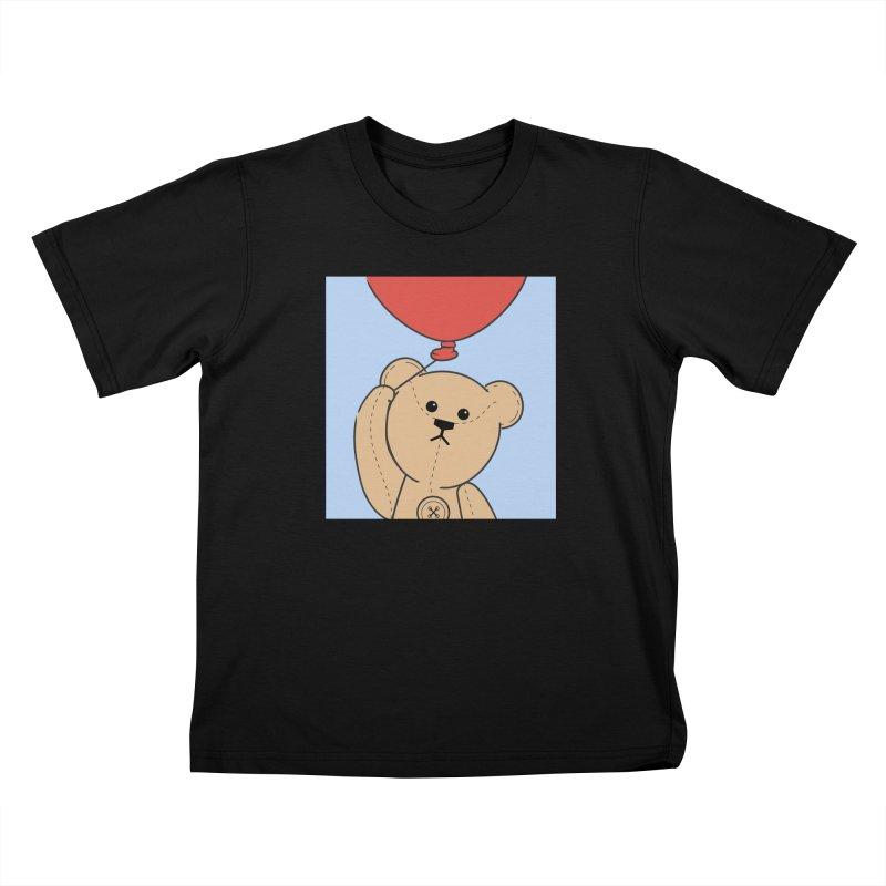 Red Balloon Kids T-Shirt by grumpyteds's Artist Shop