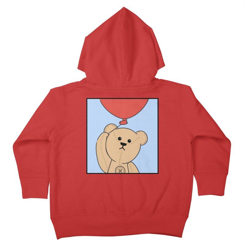 Red Balloon Kids Toddler Zip-Up Hoody by grumpyteds's Artist Shop