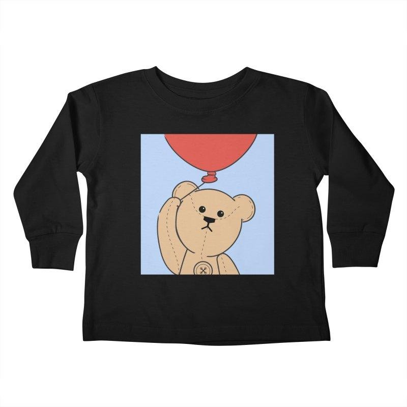 Red Balloon Kids Toddler Longsleeve T-Shirt by grumpyteds's Artist Shop