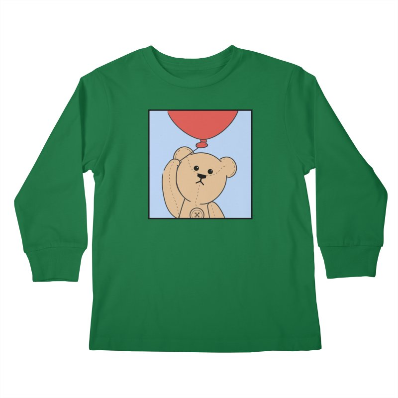 Red Balloon Kids Longsleeve T-Shirt by grumpyteds's Artist Shop