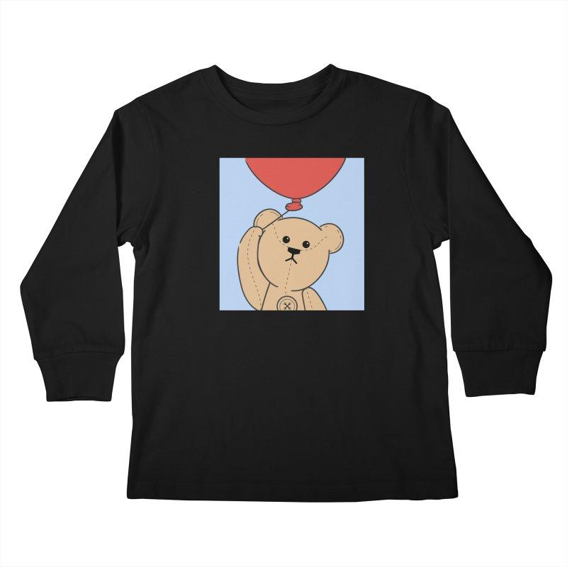 Red Balloon Kids Longsleeve T-Shirt by grumpyteds's Artist Shop