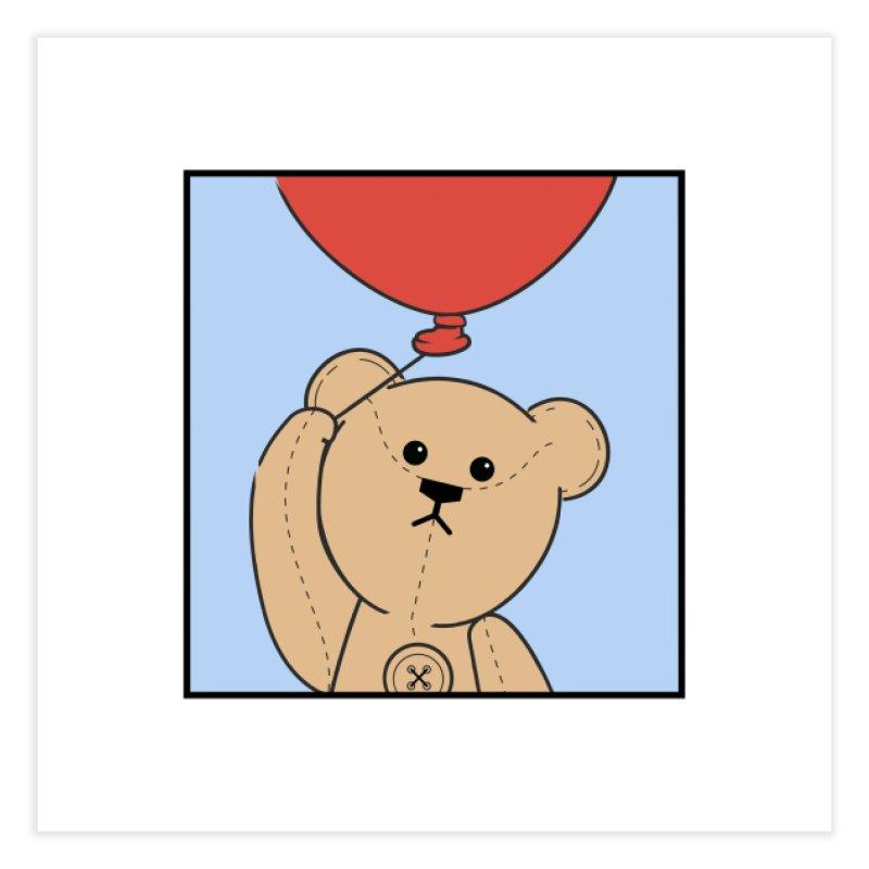 Red Balloon Home Fine Art Print by grumpyteds's Artist Shop