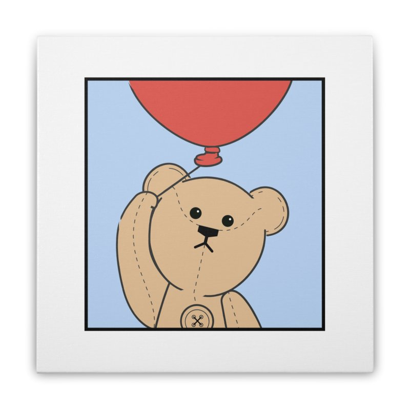Red Balloon Home Stretched Canvas by grumpyteds's Artist Shop