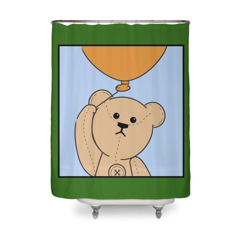 Orange Balloon Home Shower Curtain by grumpyteds's Artist Shop