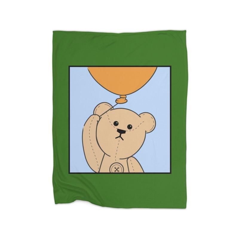Orange Balloon Home Fleece Blanket Blanket by grumpyteds's Artist Shop