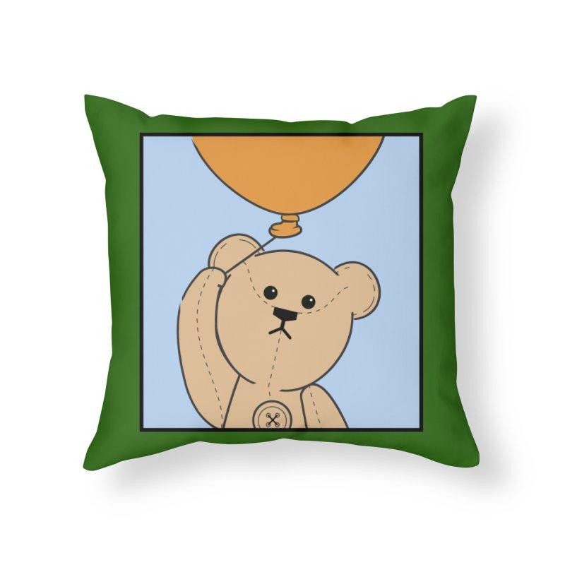 Orange Balloon Home Throw Pillow by grumpyteds's Artist Shop