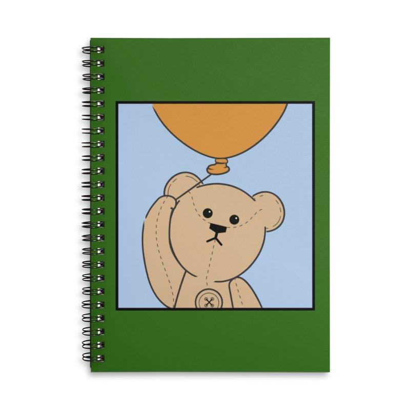 Orange Balloon Accessories Lined Spiral Notebook by grumpyteds's Artist Shop