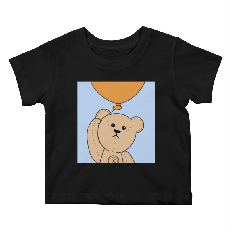 Orange Balloon Kids Baby T-Shirt by grumpyteds's Artist Shop