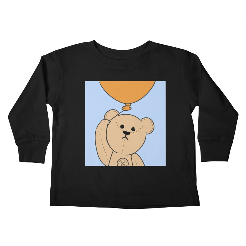 Orange Balloon Kids Toddler Longsleeve T-Shirt by grumpyteds's Artist Shop