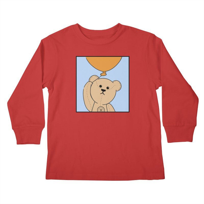 Orange Balloon Kids Longsleeve T-Shirt by grumpyteds's Artist Shop