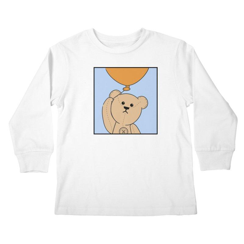 Orange Balloon Kids Longsleeve T-Shirt by grumpyteds's Artist Shop
