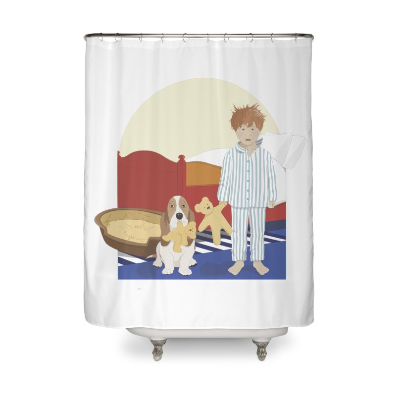 Time For Bed Home Shower Curtain by grumpyteds's Artist Shop