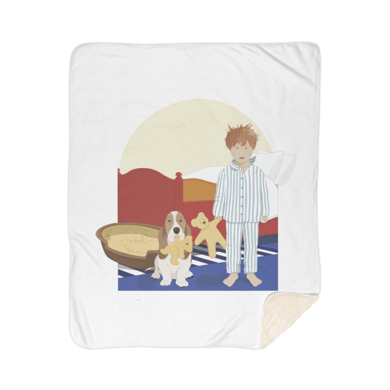 Time For Bed Home Sherpa Blanket Blanket by grumpyteds's Artist Shop