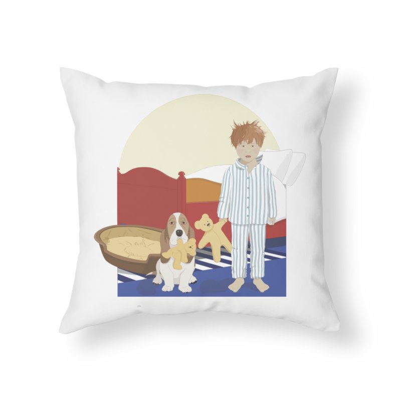 Time For Bed Home Throw Pillow by grumpyteds's Artist Shop