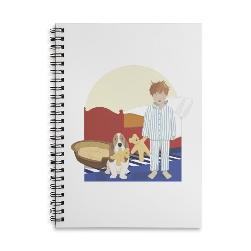 Time For Bed Accessories Lined Spiral Notebook by grumpyteds's Artist Shop
