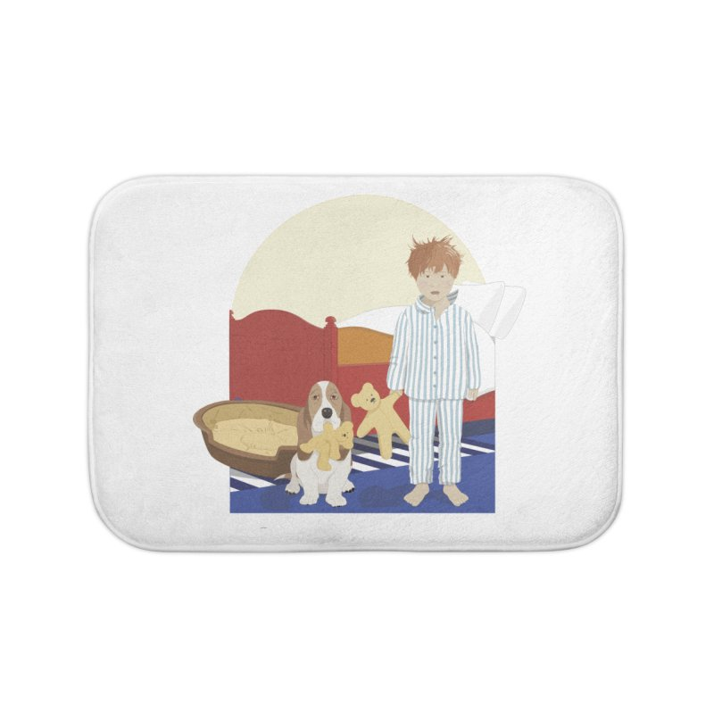 Time For Bed Home Bath Mat by grumpyteds's Artist Shop
