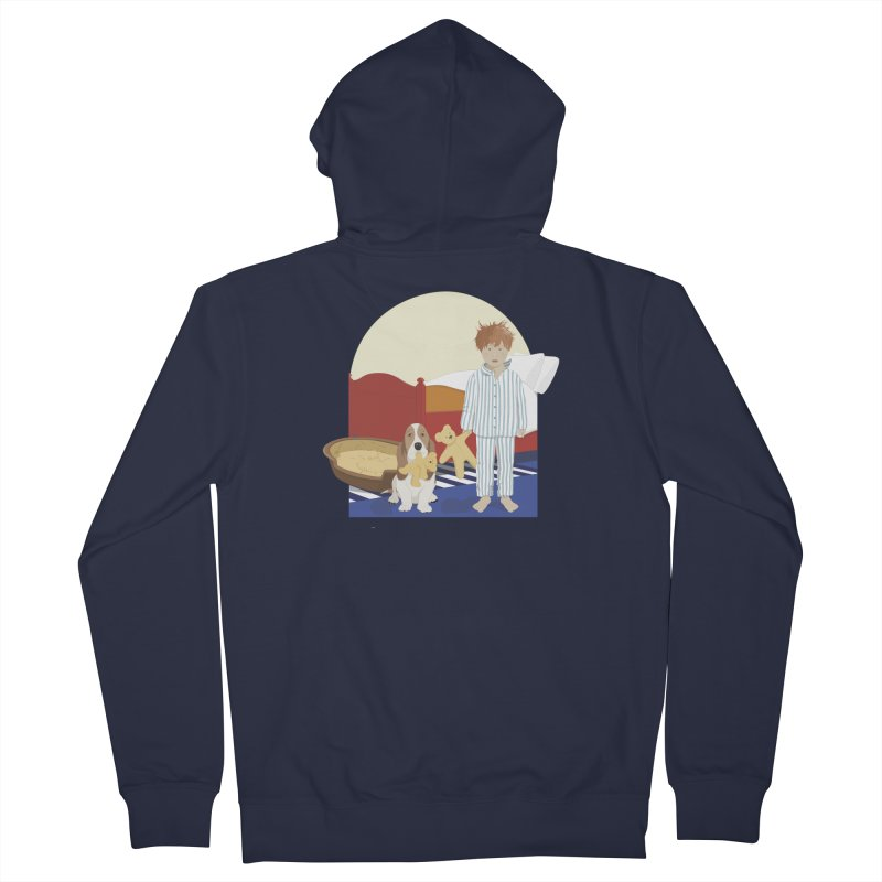 Time For Bed Men's French Terry Zip-Up Hoody by grumpyteds's Artist Shop
