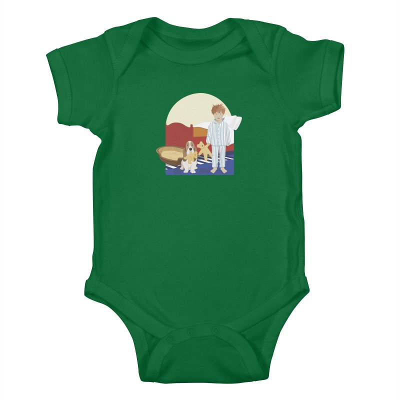 Time For Bed Kids Baby Bodysuit by grumpyteds's Artist Shop