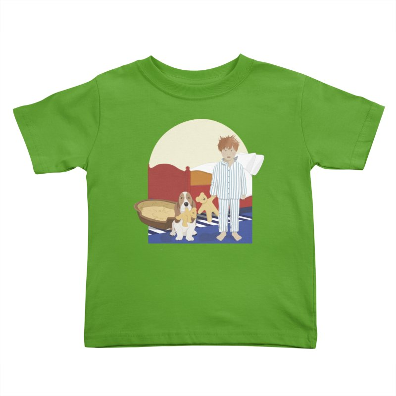 Time For Bed Kids Toddler T-Shirt by grumpyteds's Artist Shop