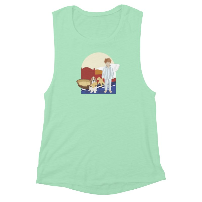 Time For Bed Women's Muscle Tank by grumpyteds's Artist Shop