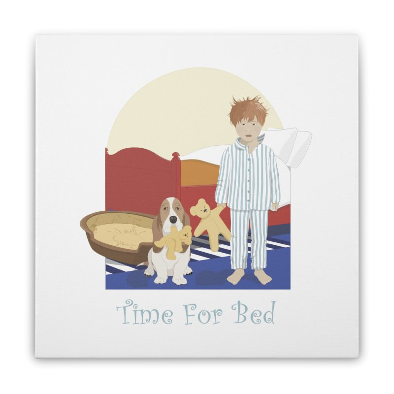 Time For Bed Home Stretched Canvas by grumpyteds's Artist Shop