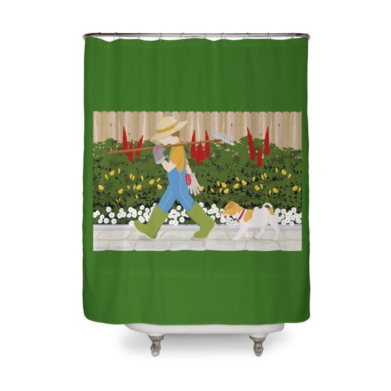 Junior Gardeners Home Shower Curtain by grumpyteds's Artist Shop
