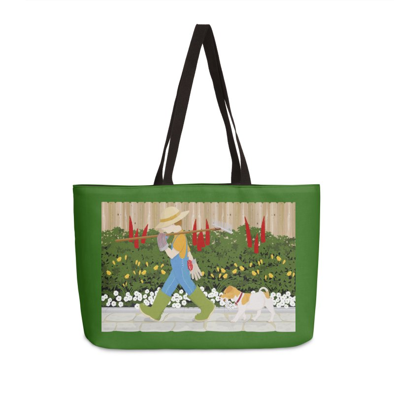 Junior Gardeners Accessories Weekender Bag Bag by grumpyteds's Artist Shop