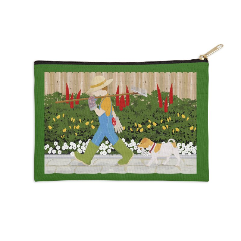 Junior Gardeners Accessories Zip Pouch by grumpyteds's Artist Shop