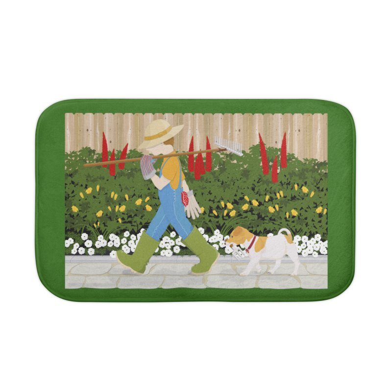 Junior Gardeners Home Bath Mat by grumpyteds's Artist Shop
