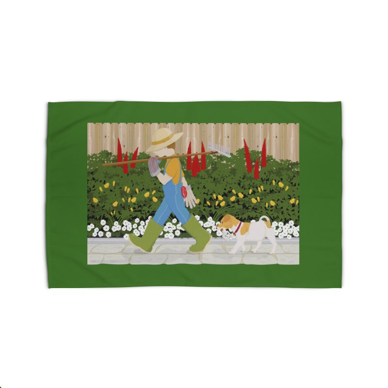 Junior Gardeners Home Rug by grumpyteds's Artist Shop