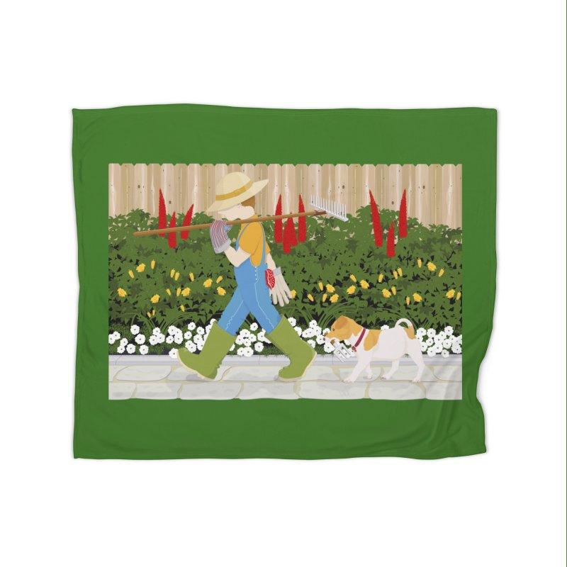 Junior Gardeners Home Fleece Blanket Blanket by grumpyteds's Artist Shop