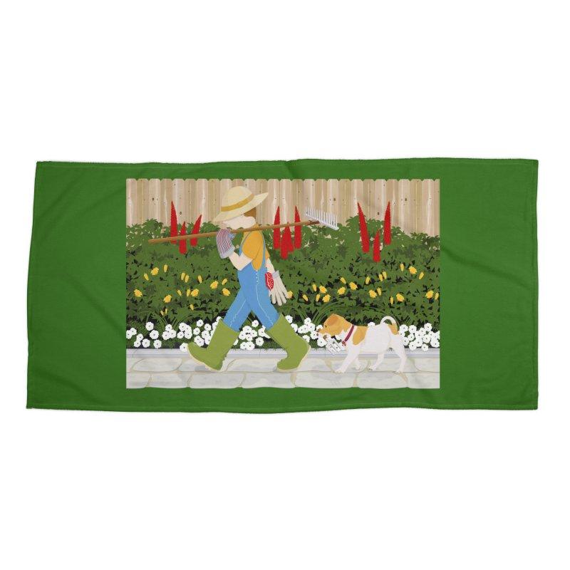 Junior Gardeners Accessories Beach Towel by grumpyteds's Artist Shop