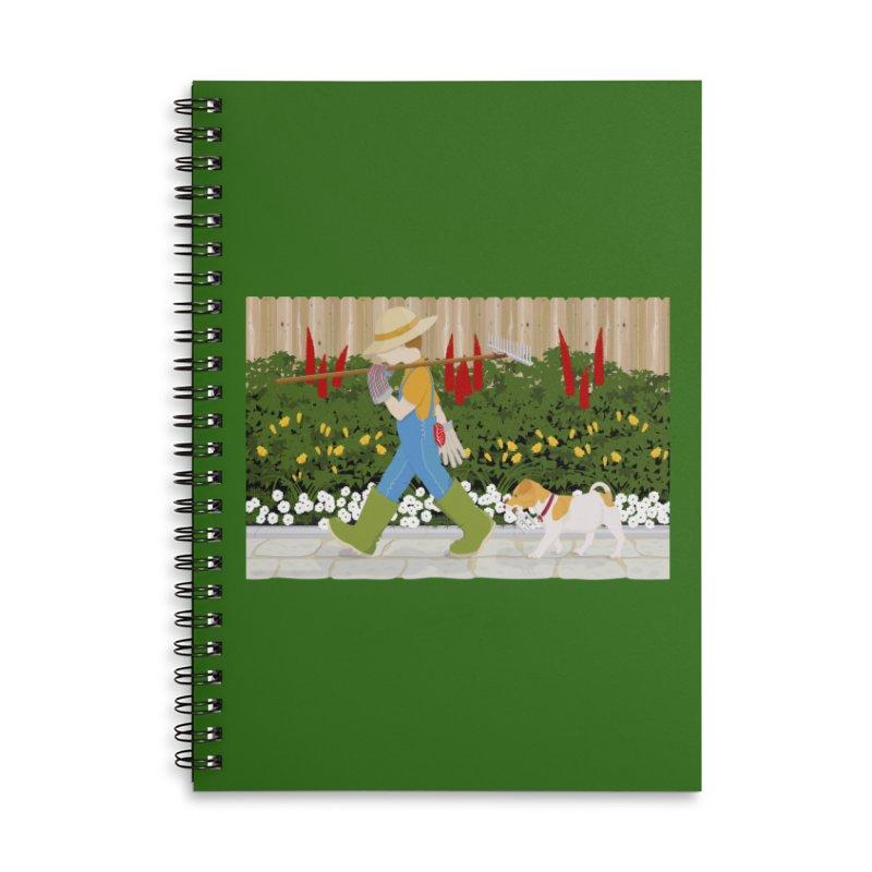 Junior Gardeners Accessories Lined Spiral Notebook by grumpyteds's Artist Shop