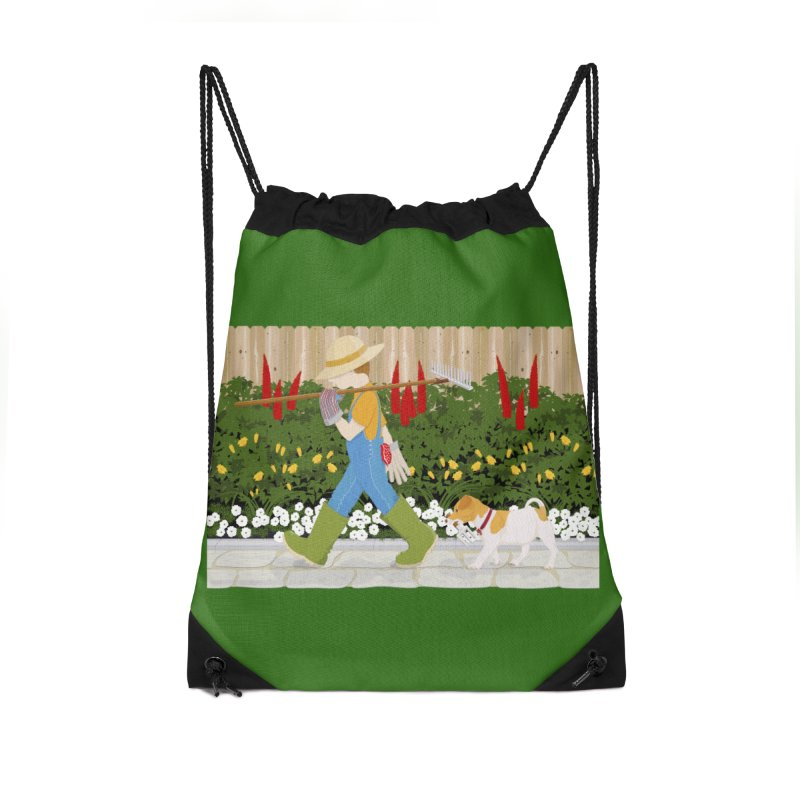 Junior Gardeners Accessories Drawstring Bag Bag by grumpyteds's Artist Shop