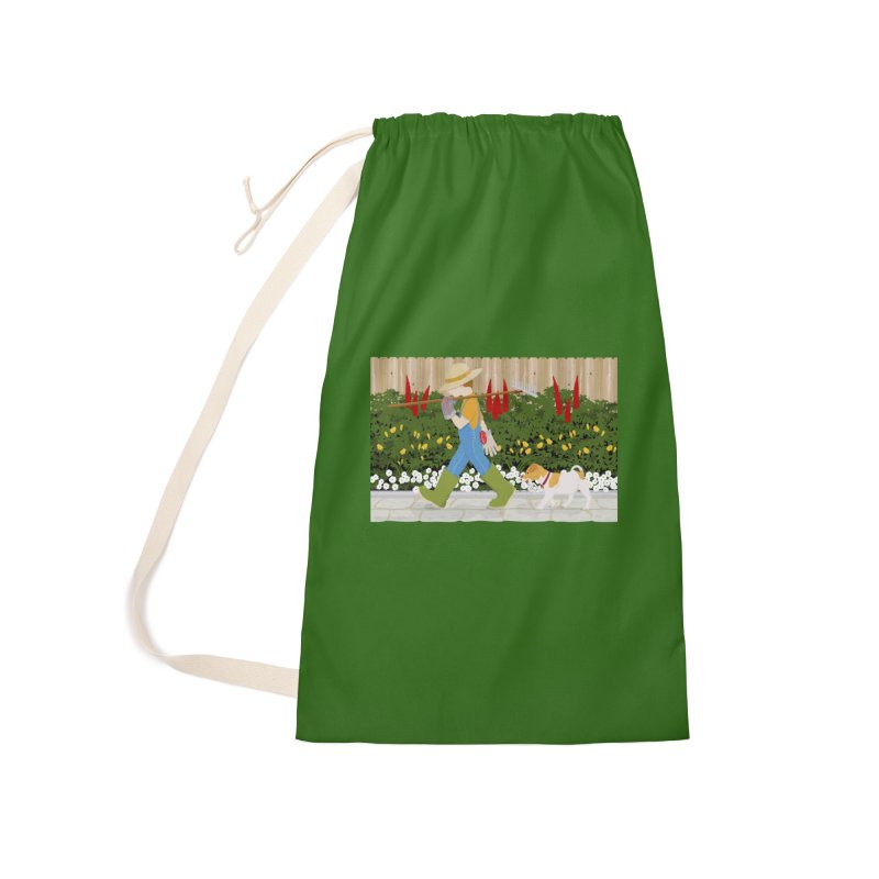 Junior Gardeners Accessories Laundry Bag Bag by grumpyteds's Artist Shop