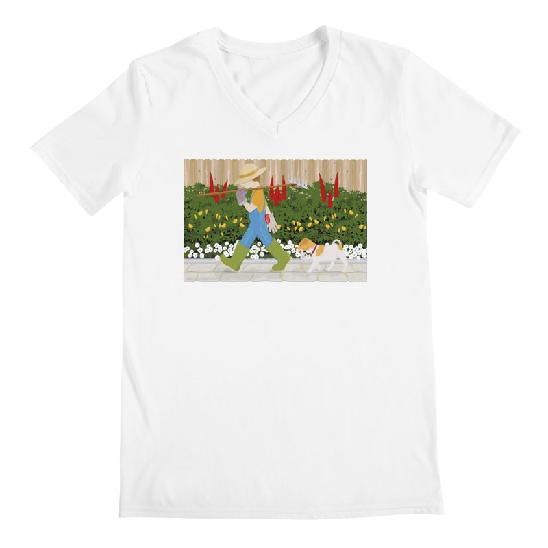 Junior Gardeners Men's V-Neck by grumpyteds's Artist Shop