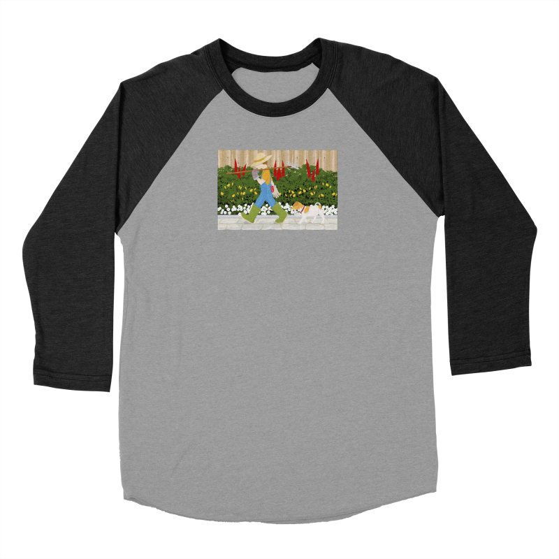Junior Gardeners Women's Baseball Triblend Longsleeve T-Shirt by grumpyteds's Artist Shop