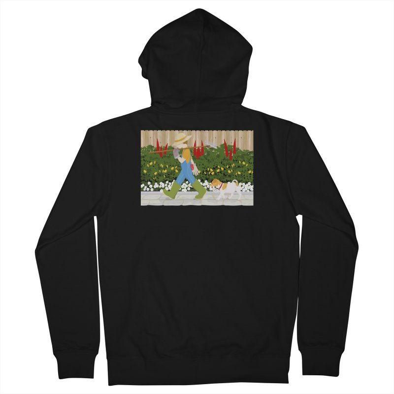 Junior Gardeners Men's Zip-Up Hoody by grumpyteds's Artist Shop