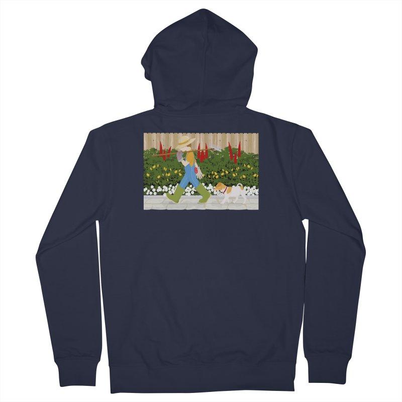 Junior Gardeners Men's French Terry Zip-Up Hoody by grumpyteds's Artist Shop