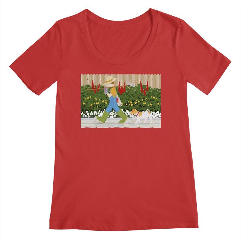Junior Gardeners Women's Regular Scoop Neck by grumpyteds's Artist Shop
