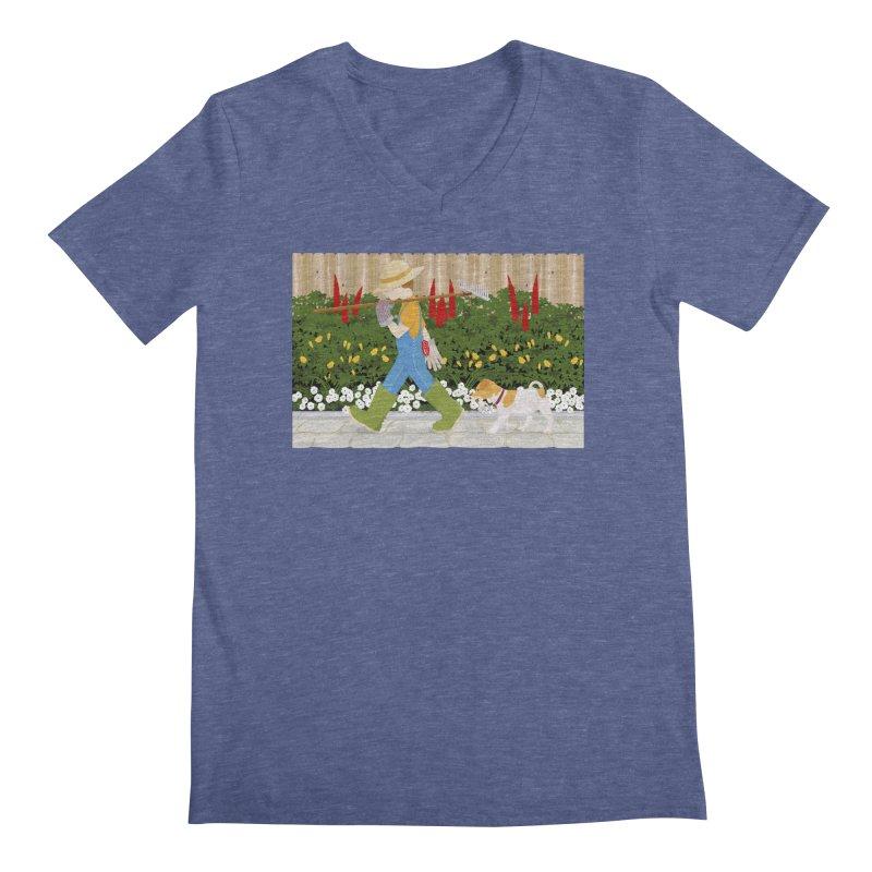 Junior Gardeners Men's Regular V-Neck by grumpyteds's Artist Shop