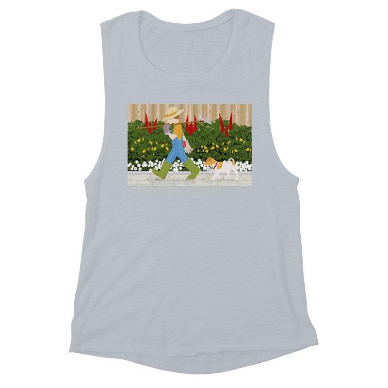 Junior Gardeners Women's Muscle Tank by grumpyteds's Artist Shop