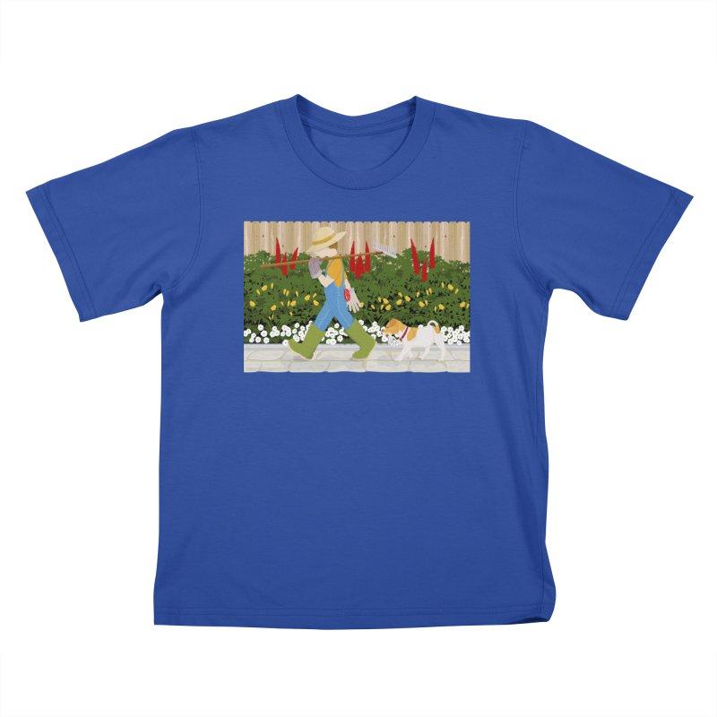 Junior Gardeners Kids T-Shirt by grumpyteds's Artist Shop