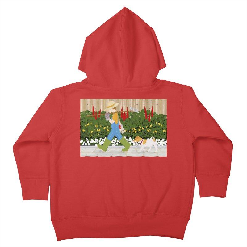 Junior Gardeners Kids Toddler Zip-Up Hoody by grumpyteds's Artist Shop