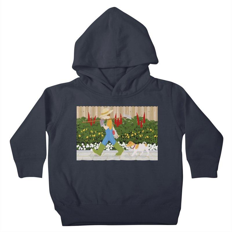 Junior Gardeners Kids Toddler Pullover Hoody by grumpyteds's Artist Shop
