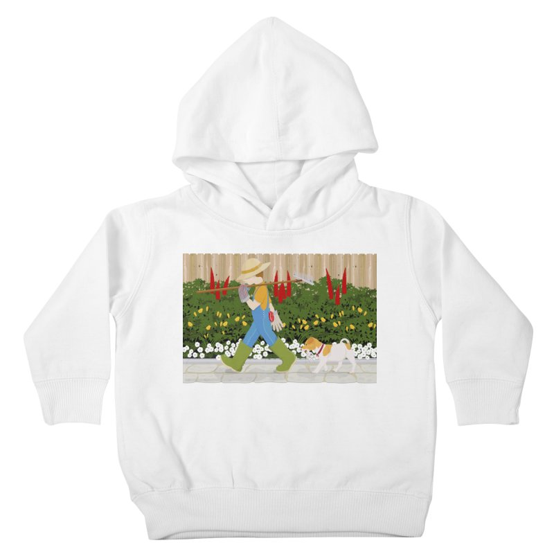 Junior Gardeners Kids Toddler Pullover Hoody by grumpyteds's Artist Shop